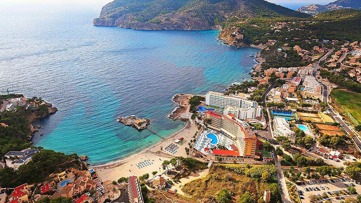 Mallorca Karte Strande.Strand Camp De Mar Bei Andratx Im Westen Von Mallorca