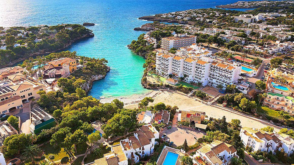 Strand Cala Dor Bei Santanyi Im Süden Von Mallorca