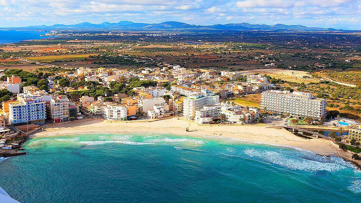 S Illot Mallorca Karte.Strand S Illot Bei Manacor Sant Llorenc Des Cardassar Im Osten Von
