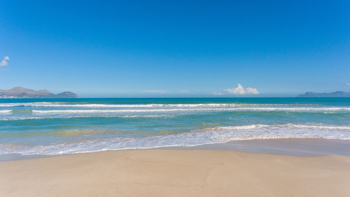 Playa De Muro Karte.Beach Playa De Muro Near Muro In The North Of Mallorca
